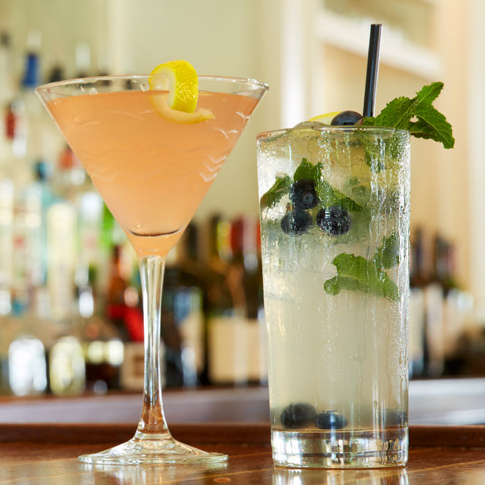 cocktails and specialty drinks on the menu