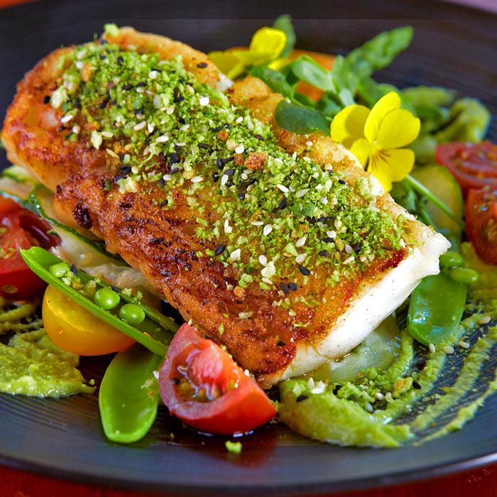 pan fried cod menu choice